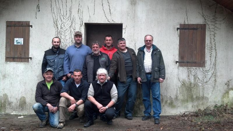 Membres de l'association de chasse