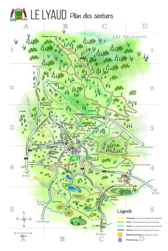 Carte sentiers